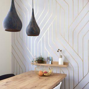 muurdecoratie goud in huis
