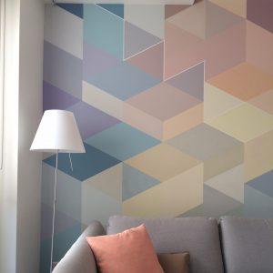 muurschildering geometrisch