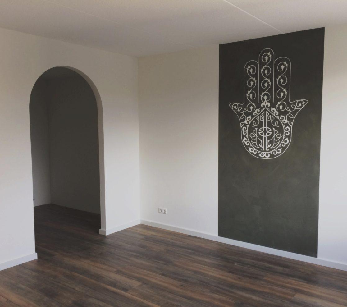 Muurschildering slaapkamer met kalkverf - Miranda Maakt het Mooi