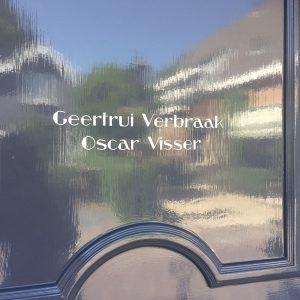 naam op deur jaren 30 stijl