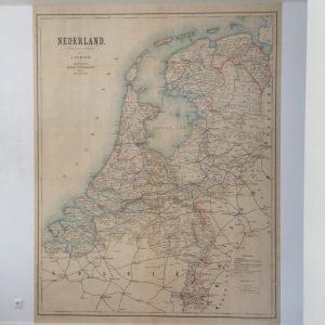 behang landkaart nederland