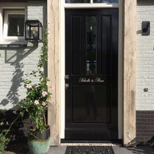 Naam op deur Utrecht