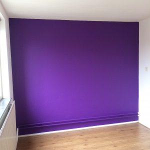 lelijke muur mooi maken met verf 2