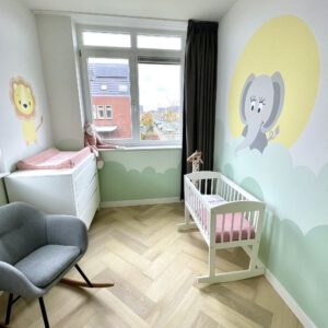 babykamer muurschildering Amersfoort