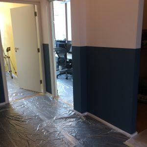 verven muren kantoor