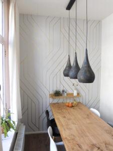 gouden patroon op muur